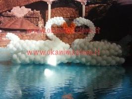 palloncini forma cigni BY OKANIMAZIONE